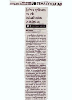 Rita Cortez comenta direitos trabalhistas em alto mar, no trabalho em navios, no Jornal do Brasil