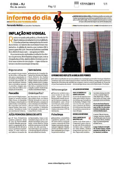 Coluna Informe do Dia noticia ganho de causa da AJS: Justiça penhora obras de arte da Candido Mendes