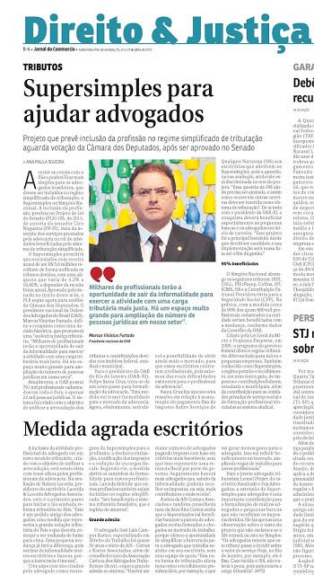 Leia a matéria do Jornal do Commércio sobre o Supersimples para advogados – Rita Cortez e José Luis Campos Xavier comentam o projeto para Ana Paula Silveira