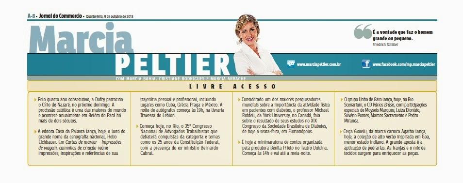 Começa hoje o 35º CONAT. Confira o que a coluna da Marcia Peltier, do Jornal do Commercio, publicou