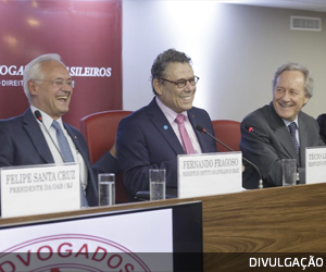 Portal Migalhas noticia a posse de Técio Lins e Silva, novo Presidente do IAB, e suas Diretorias Estatutária e Executiva
