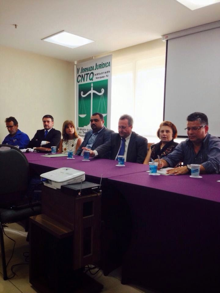 Rita Cortez esteve presente na Vª Jornada Jurídica da Confederação Nacional dos Trabalhadores do setor Químico (CNTQ).