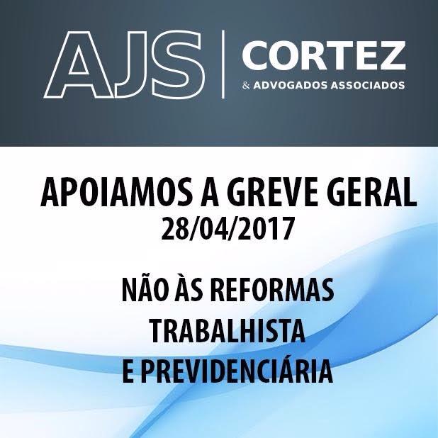 AJS apoia a Greve Geral do dia 28 de abril