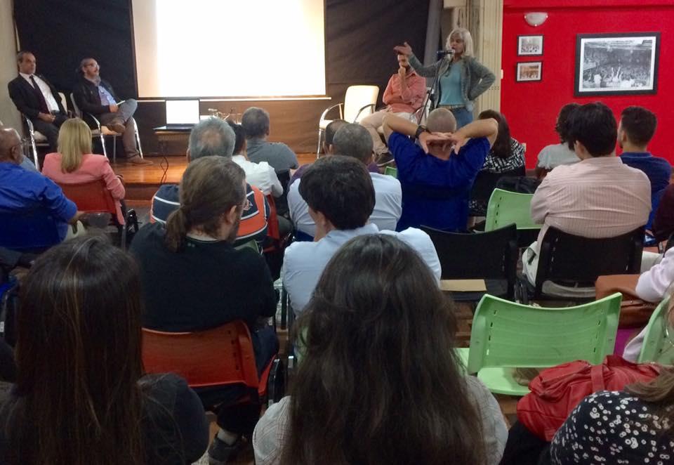 Rita Cortez participa de palestra no Sindicato dos Bancários do RJ