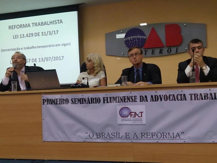 Rita Cortez participa da abertura do seminário ´O Brasil e a reforma trabalhista´