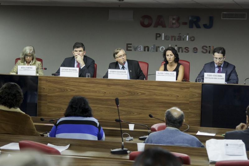 Rita Cortez participa na OAB/RJ de ato em favor da liberdade de expressão