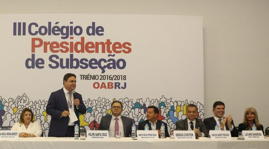 Rita Cortez integra mesa de honra na abertura do III Colégio de Presidentes de Subseção da OAB/RJ