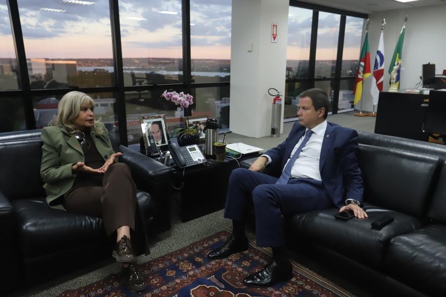 Rita Cortez se reúne com Lamachia e discute união com a OAB em defesa de direitos e prerrogativas