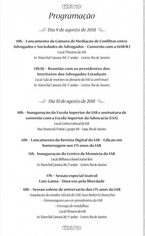 IAB comemora 175 anos com sessão solene, inaugurações, condecorações e convênio