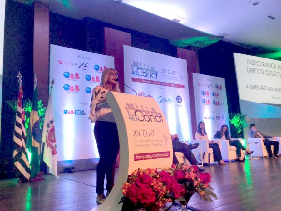 Rita Cortez critica efeitos perversos da reforma trabalhista no 40º Conat