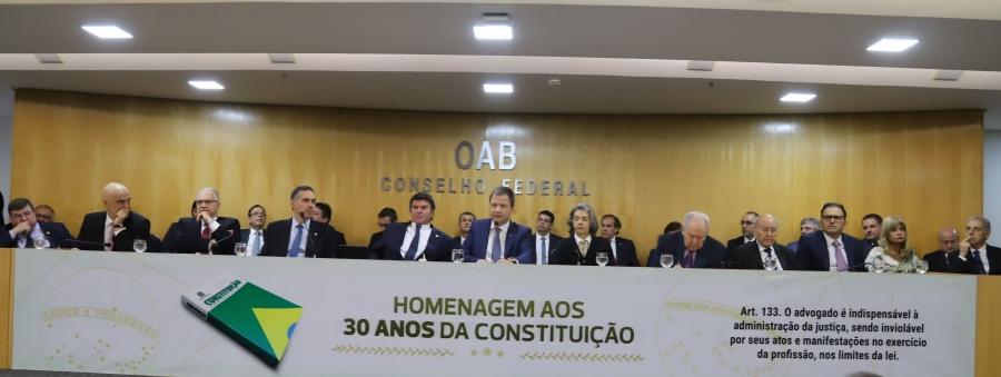 Rita Cortez integra mesa de honra com ministros do STF em evento na OAB, em Brasília