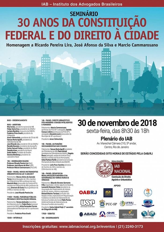 Rita Cortez abre Seminário sobre os 30 anos da Constituição Federal e do direito à cidade