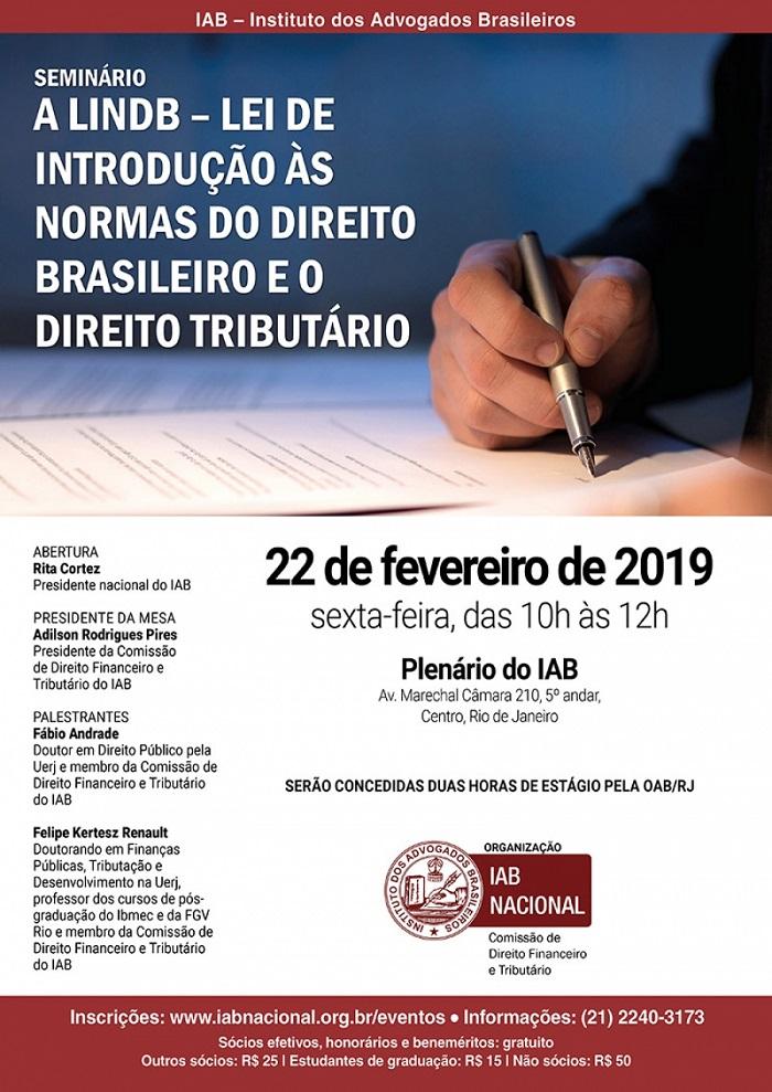 Evento sobre normas do direito brasileiro e o direito tributário será aberto por Rita Cortez, nesta sexta-feira (22/2)