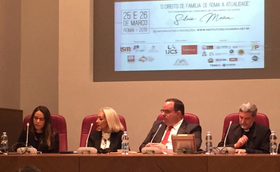 Joana Cortez representa Rita Cortez no II Congresso Ítalo-Luso-Brasileiro de Direito, em Roma