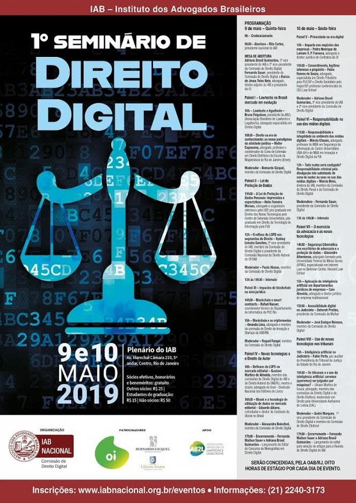 Seminário de Direito Digital que reunirá advogados, juízes e empresários, será aberto por Rita Cortez