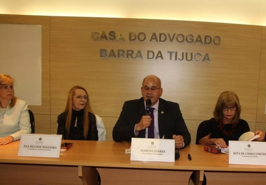 Rita Cortez exalta empoderamento feminino, em evento na subseção da OAB/RJ na Barra