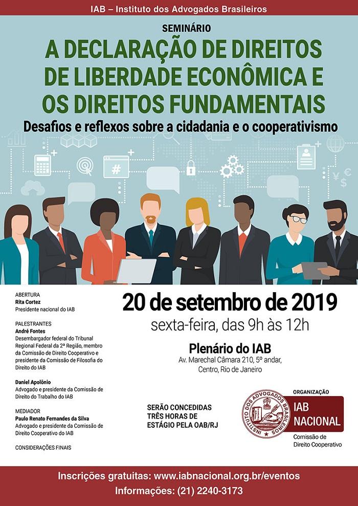 Seminário que debaterá os reflexos da MP da Liberdade Econômica no cooperativismo, será aberto por Rita Cortez