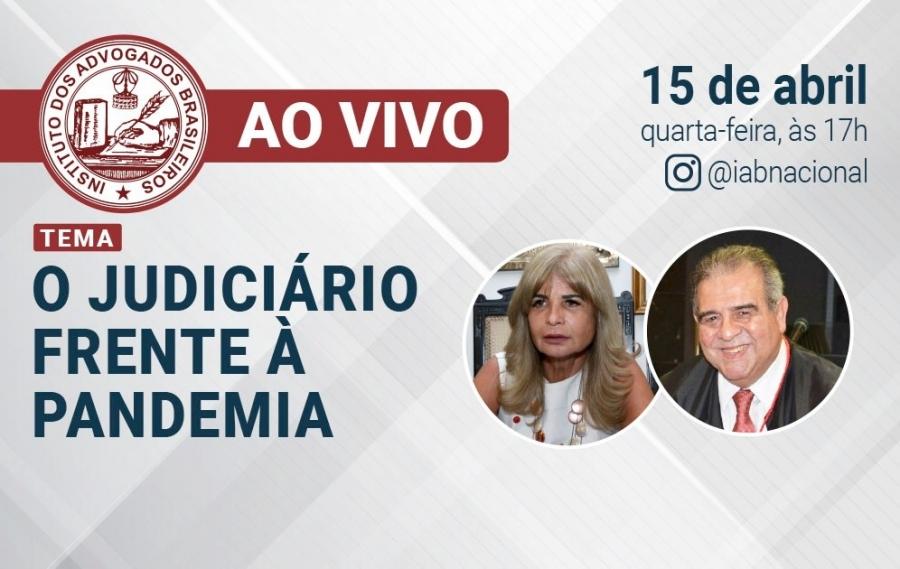 Rita Cortez faz live com o presidente do TRT/RJ, desembargador José da Fonseca Martins Junior, nesta quarta (15/4)