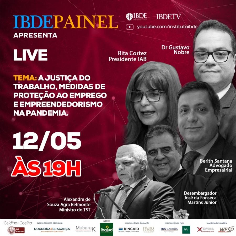 Rita Cortez participará de debate promovido pelo IBDE nesta terça-feira (12/5), às 19h
