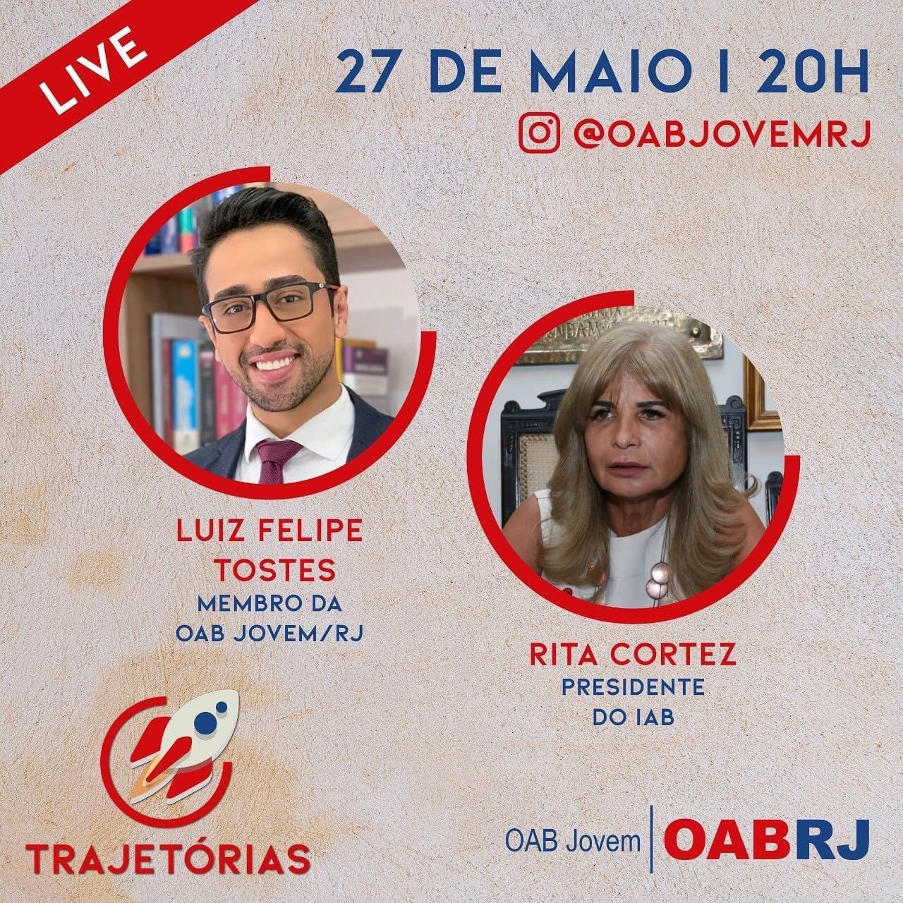 Rita Cortez participará de live no Instagram da OAB/Jovem nesta quarta-feira (27/5), às 20h