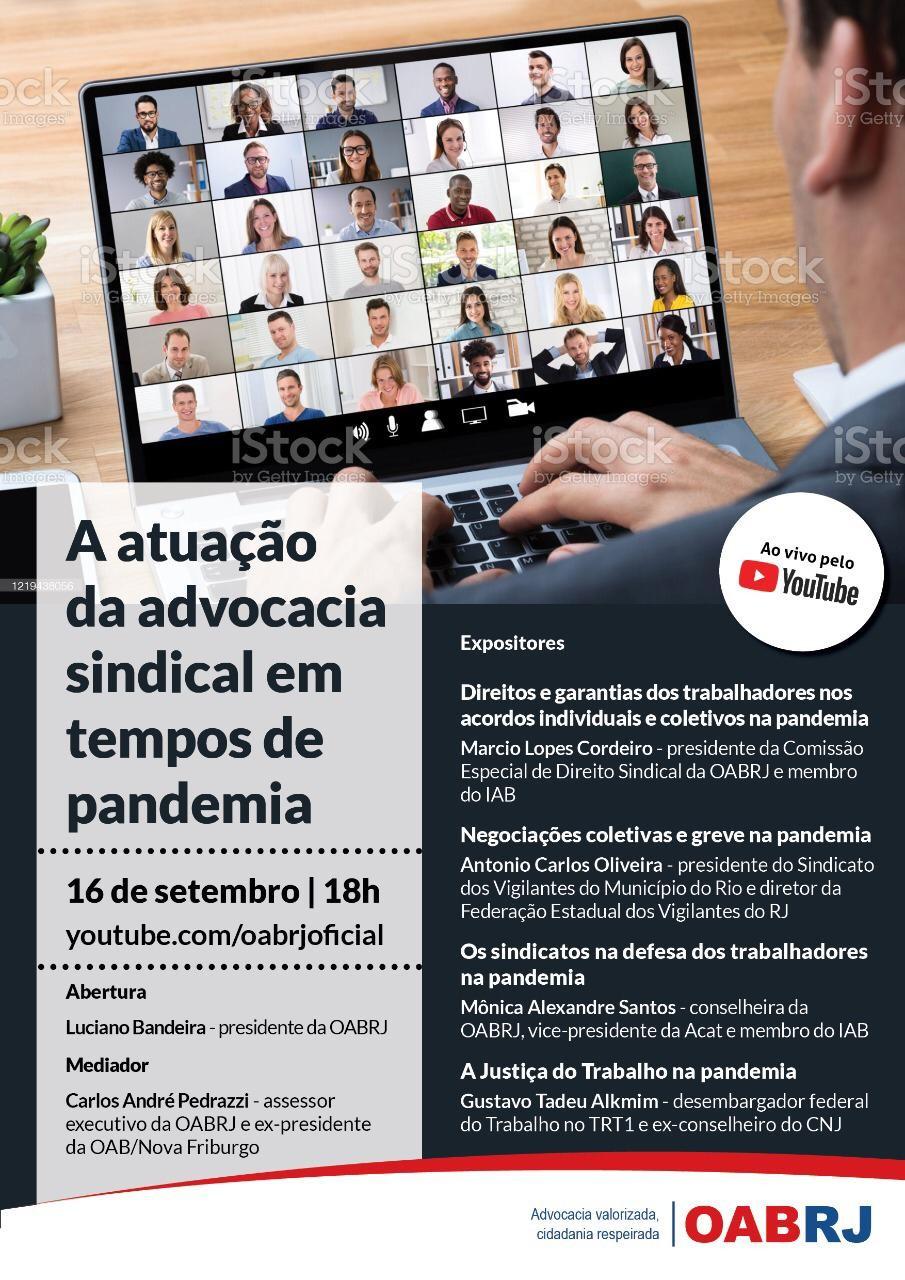 Marcio Cordero e Mônica Alexandre Santos participam de evento promovido pela OAB/RJ nesta quarta-feira (16)
