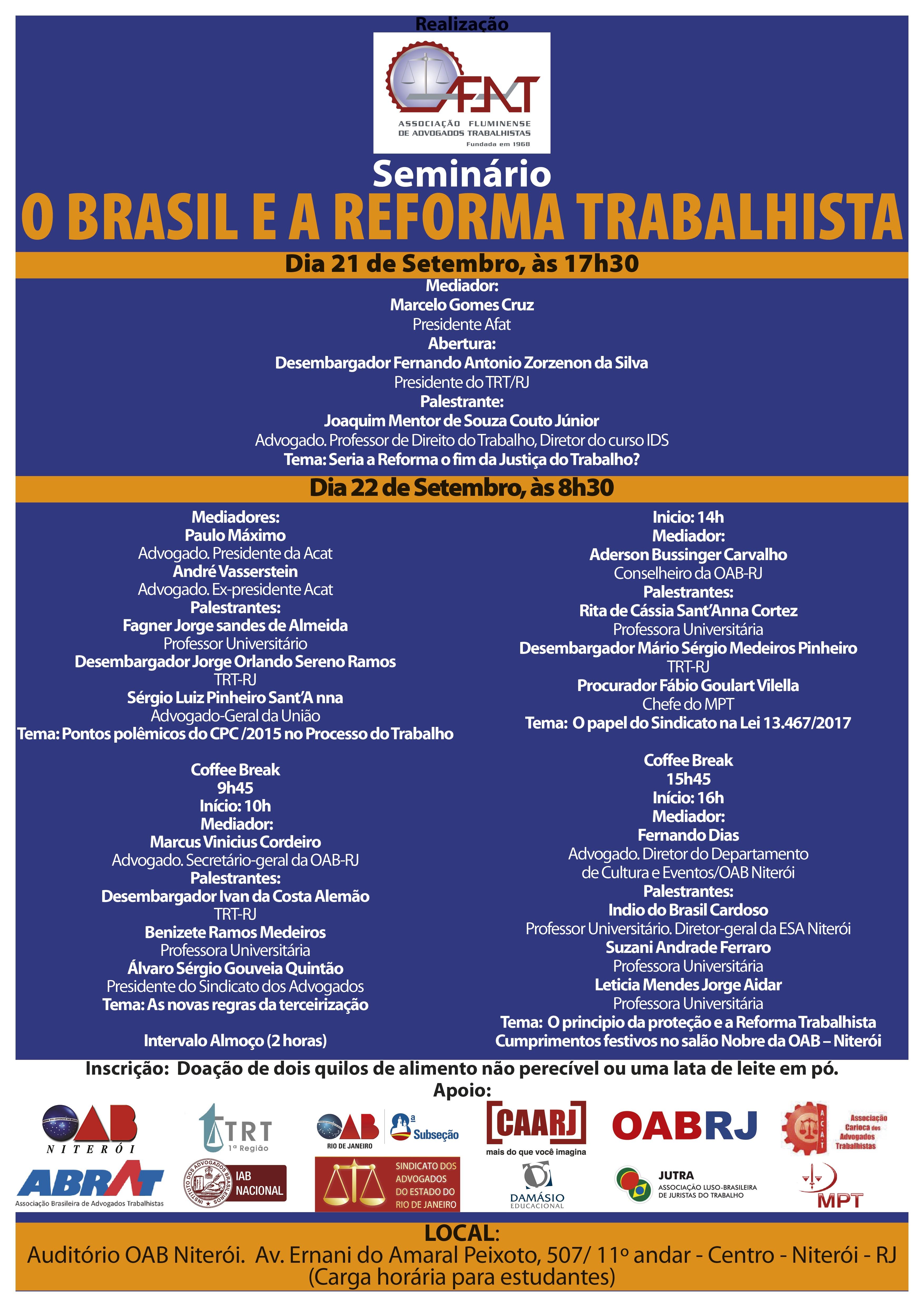 Rita Cortez será uma das palestrantes em seminário promovido pela AFAT/RJ