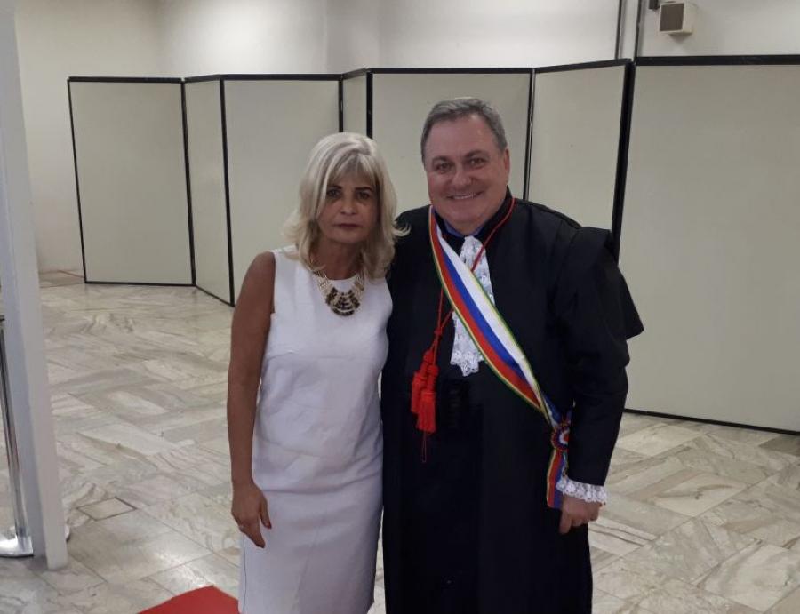 Rita Cortez representa o IAB na posse do consócio Marcos Pinto da Cruz como desembargador do TRT/RJ