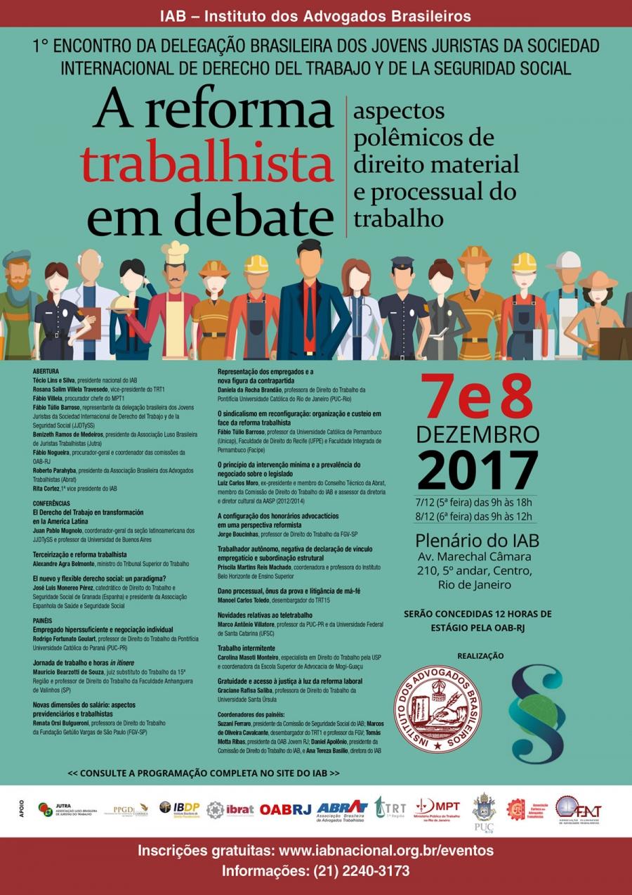 Rita Cortez abre encontro que debaterá reforma trabalhista sob aspectos polêmicos de direito material e processual do trabalho