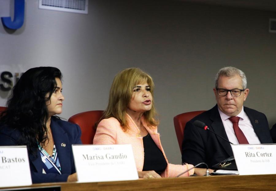 Rita Cortez destaca o crescimento do Direito Desportivo, na abertura de evento na OAB/RJ